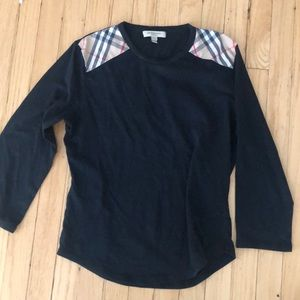 Burberry Tops - Burberry Shoulder Pads Black long sleeve